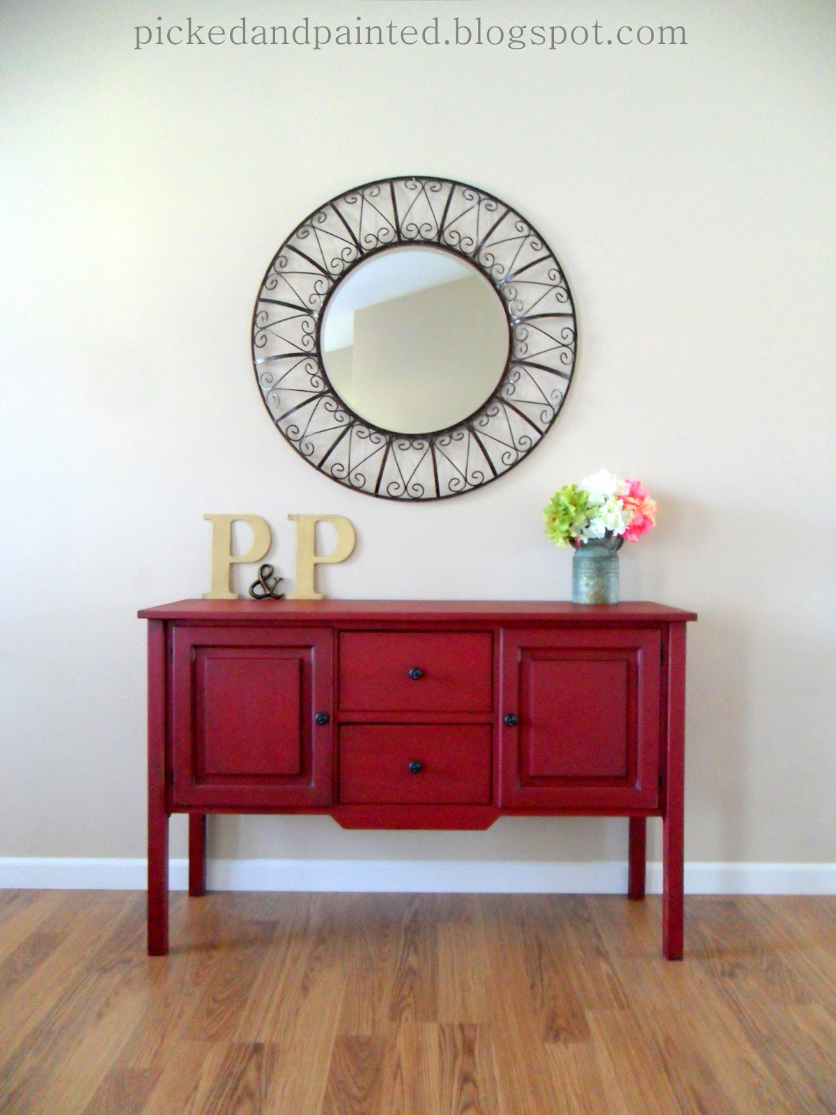 Helen Nichole Designs Custom Posh Red Buffet