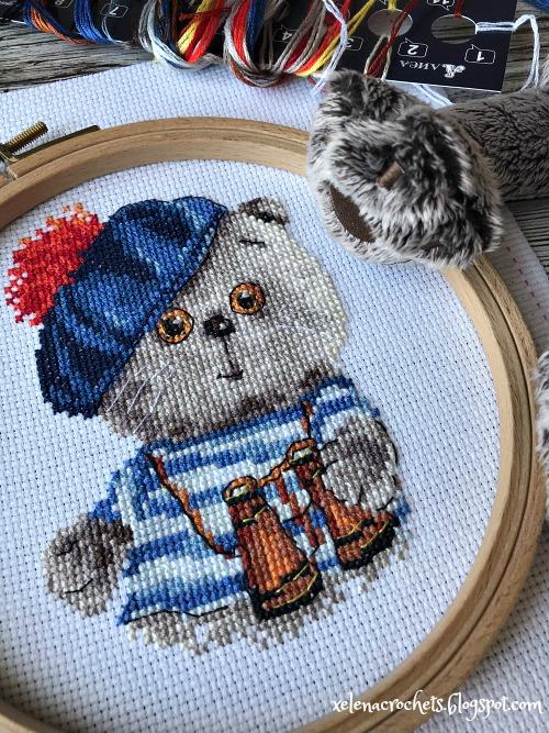 вышивка алиса басик моряк