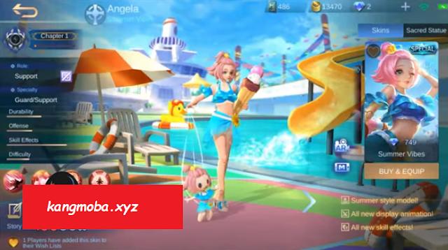 Script Skin Angela Summer Vibes Full Effect Mobile Legends