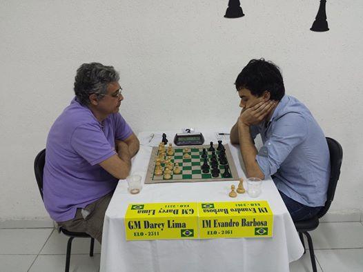 Lima e Barbosa enfrentam-se em Natal. Foto: Federação Potiguar de Xadrez