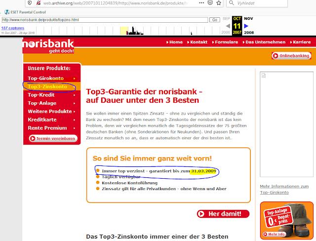 Norisbank - TOP3-Zinskonto