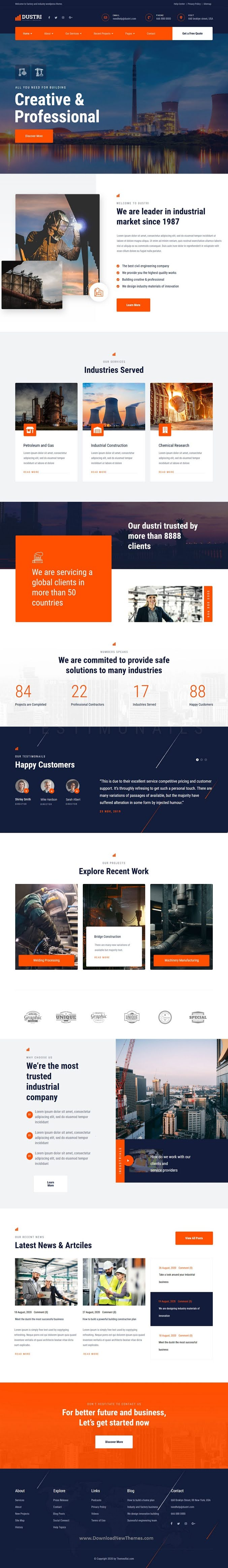 Factory & Industrial Website Template