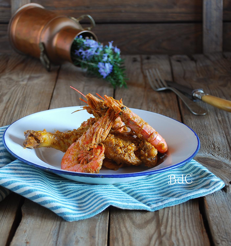 Pollo con gambas - El bistrot de Carmen