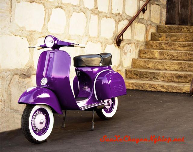 Sơn xe Piaggio Vespa cổ cực đẹp