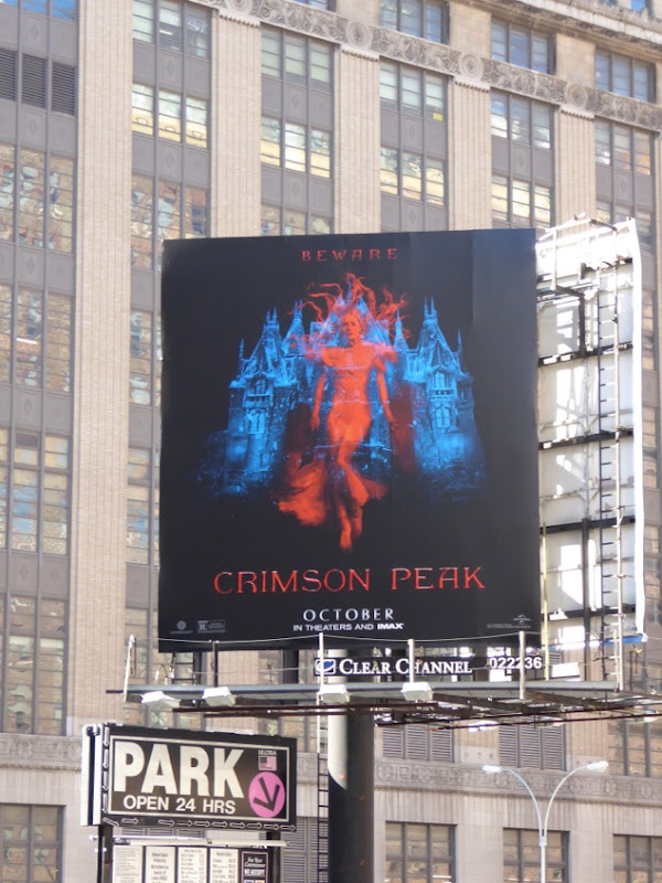 Crimson Peak movie billboard