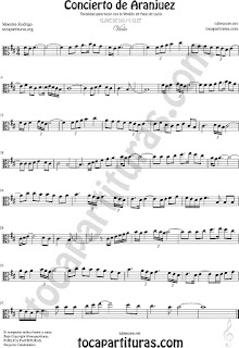Viola Partitura del Concierto de Aranjuez Sheet Music for Viola Music Score