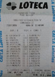 LOTECA 720 - 13 PONTOS DA NADIA