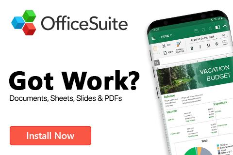 حمل الان تطبيق Office Suite لفتح الملفات وال PDF عبر الهاتف