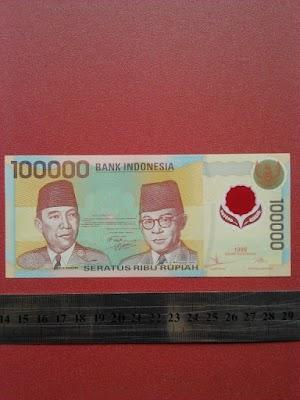 100000 rupiah tahun 1999