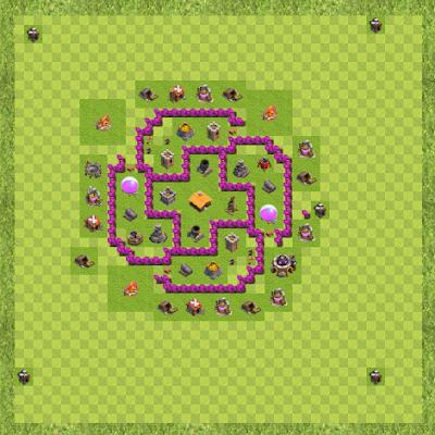 War Base Town Hall Level 6 By Sachintha Udeshika (#9UR8LC2U TH 6 Layout)