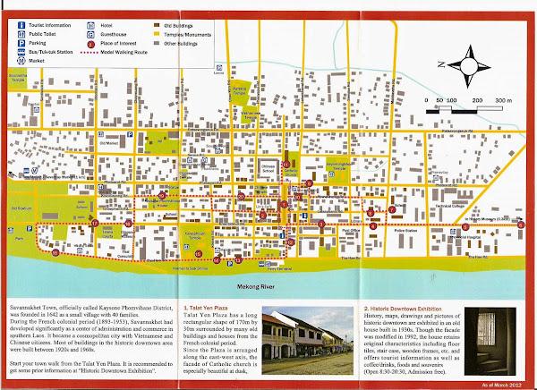 Carte touristique de Savannakhet