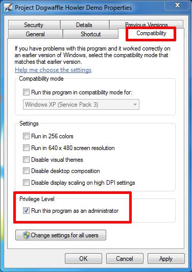 Run as Administrator in Windows