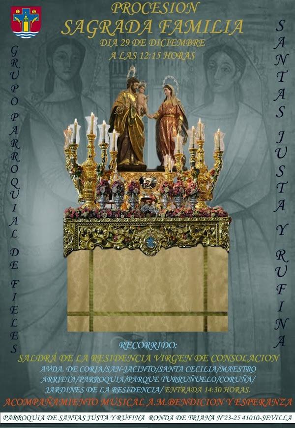 Procesión de la sagrada familia en su primera salida procesional en Sevilla