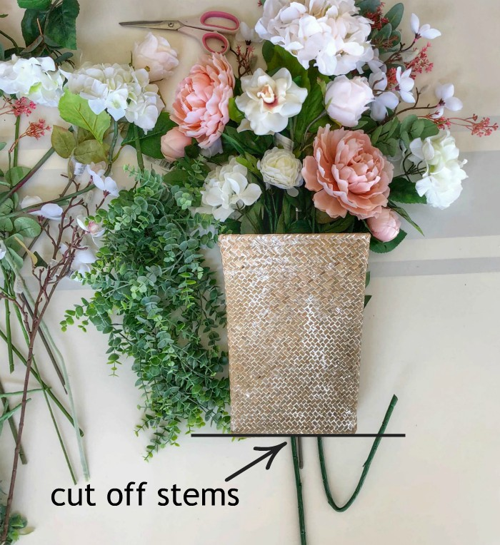 cut off stems that are too long