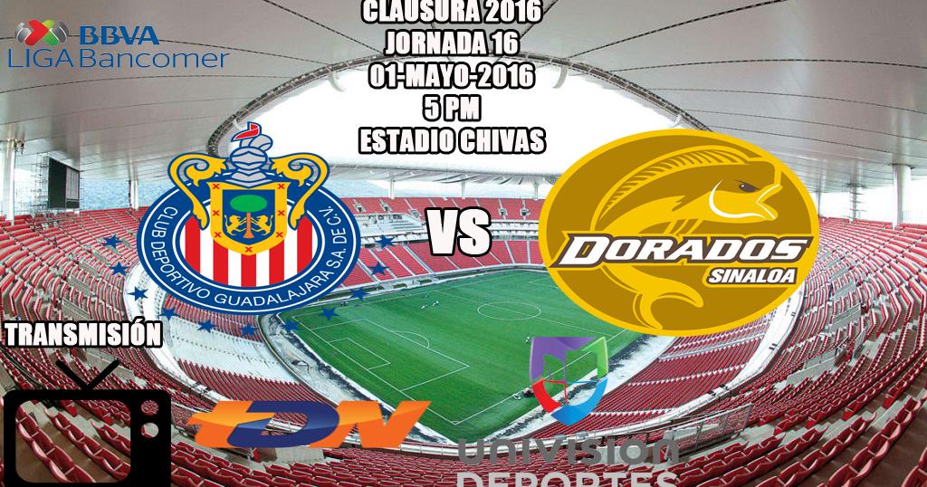 Partidos Chivas EN VIVO: 1-Mayo-2016, Liga Bancomer MX, Clausura 2016 ...