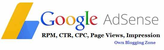 What is RPM, CPC, CTR in Google Adsense