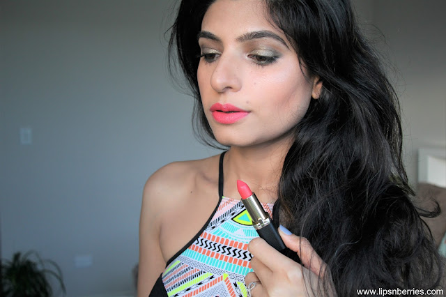 Loreal pink a porter matte lipstick on indian skin