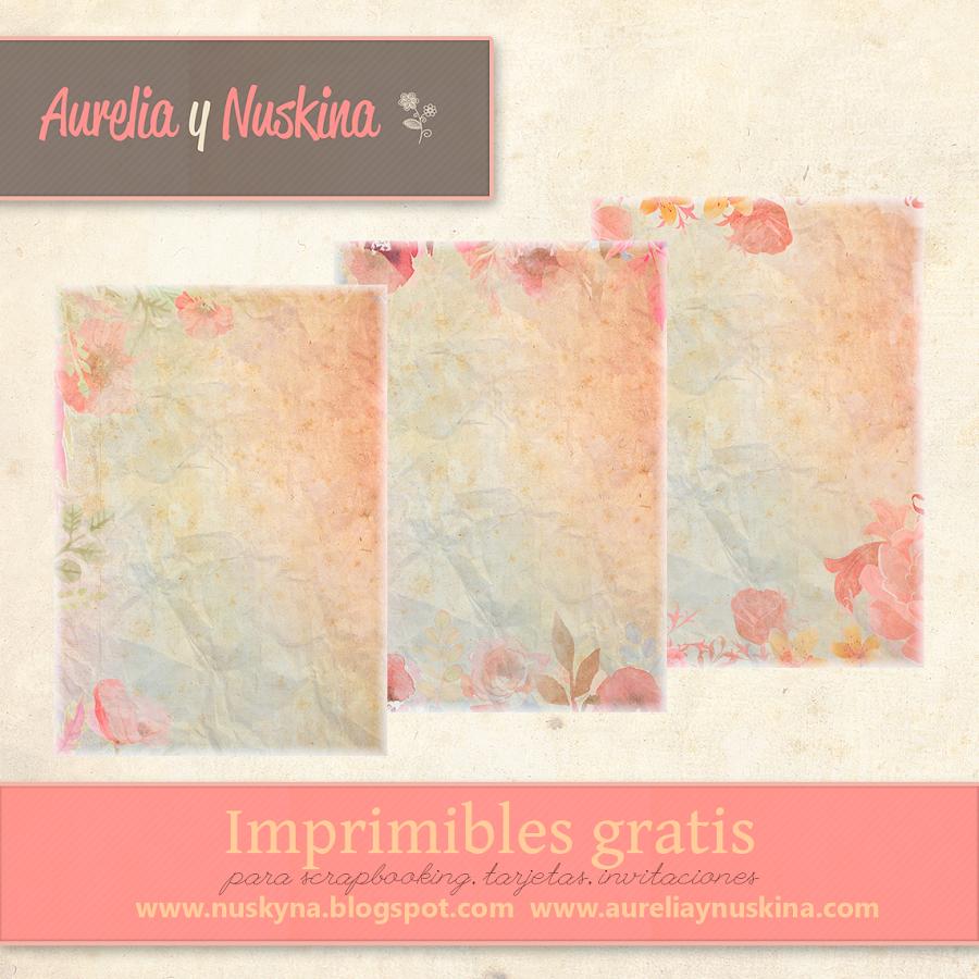 Papel vintage gratis para scrapbooking, invitaciones, tarjetas