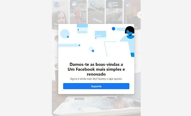 Facebook Beta no Browser do PC