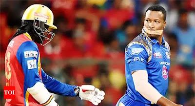 Pollard Gayle funny moment IPL