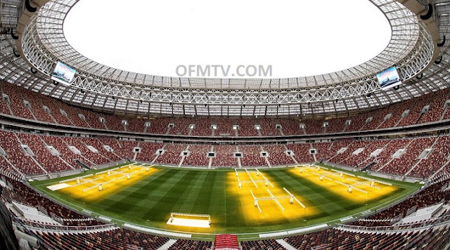 Luzhniki Stadium Inside, Moscow, Russia.