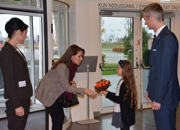 Princess Marie wore Alexander McQueen Jacket at autism conference held at the AC Bella Sky Center