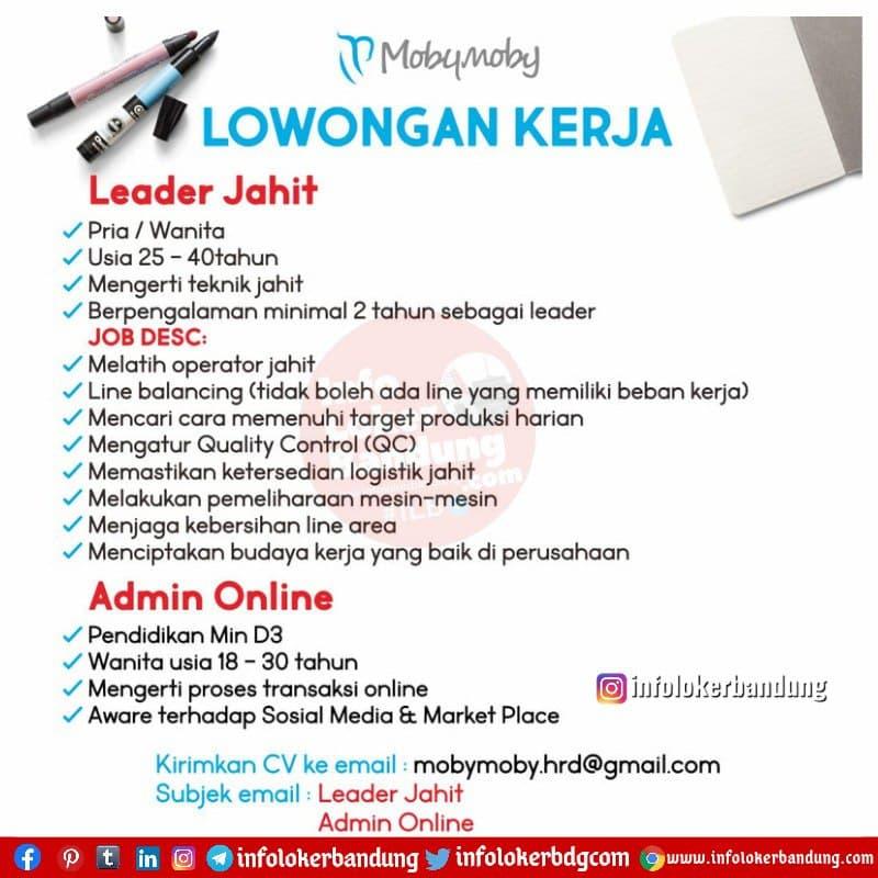 Lowongan Kerja Mobymoby Bandung Maret 2021