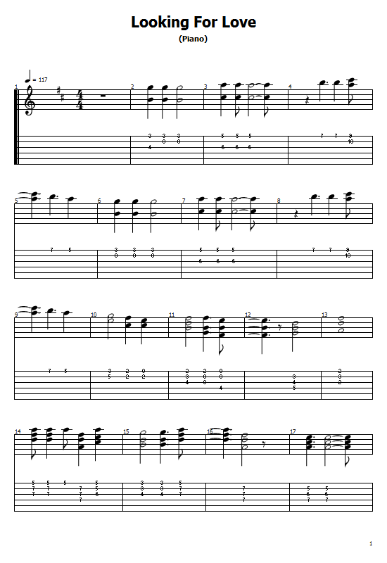 Lookin' For Love Tabs Johnny Lee. How to Play Looking For Love On Guitar, Johnny Lee -  Looking For Love Free Tabs / Chords.Johnny Lee -  Lookin' For Love