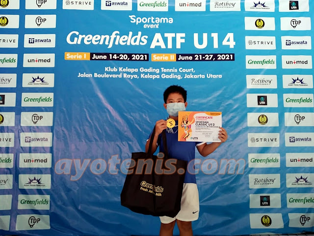 Tekuk Unggulan 1 dan 2, Dylan Yap Juara Sportama Classic U12 - Serie I