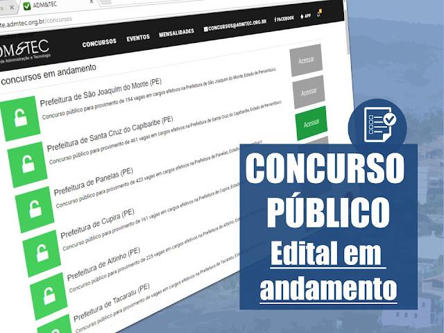 CONCURSO PÚBLICO DA PREFEITURA DE PANELAS-PE - Edital em andamento!
