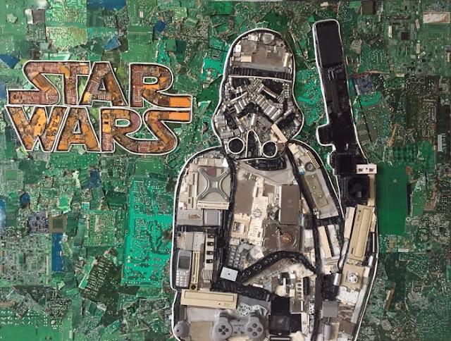 映画スター・ウォーズに触発されたアートな作品7選【art】 廃材を利用したスターウォーズ