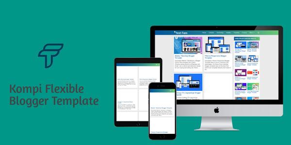 Kompi Flexible v9.10 Grid Blogger template Free Download
