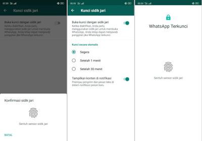 Cara Mengunci Whatsapp dengan Fingerprint Tanpa Aplikasi Lain