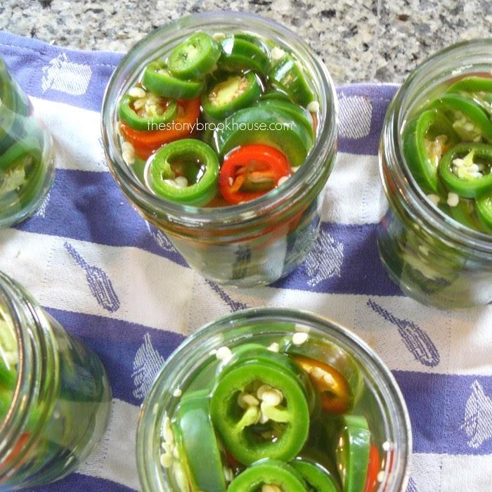 Jars stuffed with jalapeños