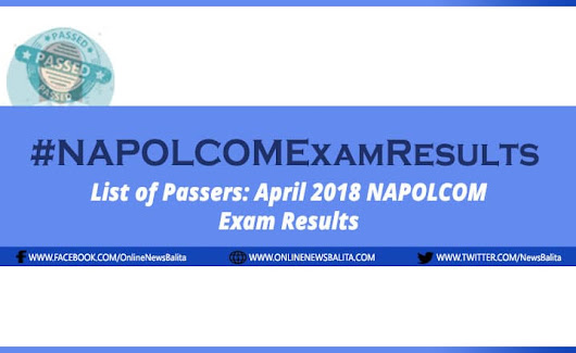 NAPOLCOM Result April 2018: Police Officer Exam Passers