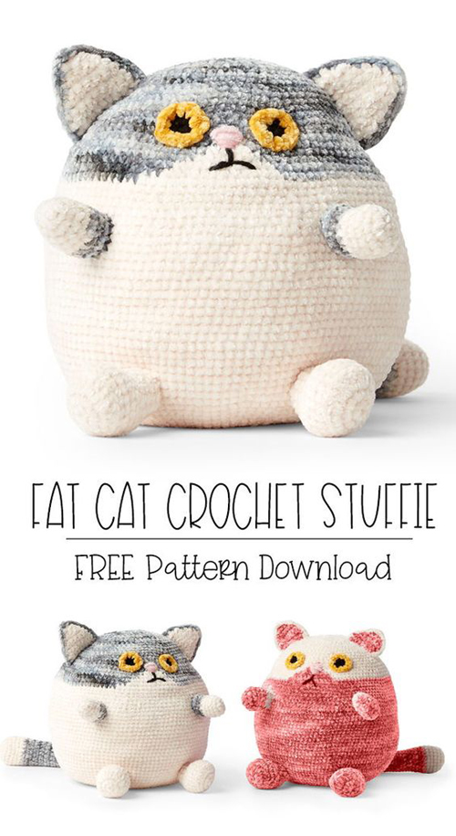 Fat Cat Crochet Stuffie - Free Pattern