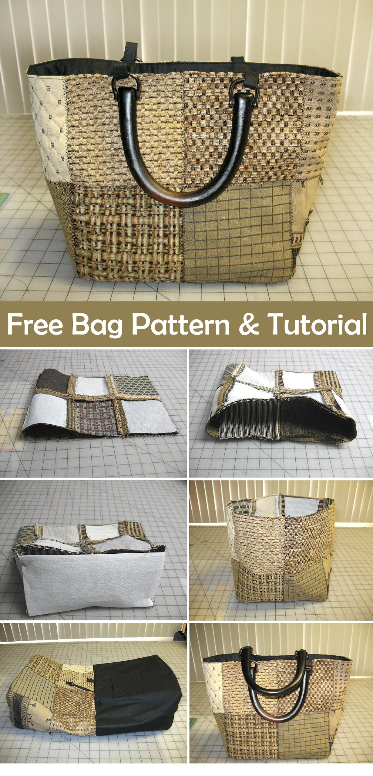Small Decorator Bag. Free Tutorial and Pattern