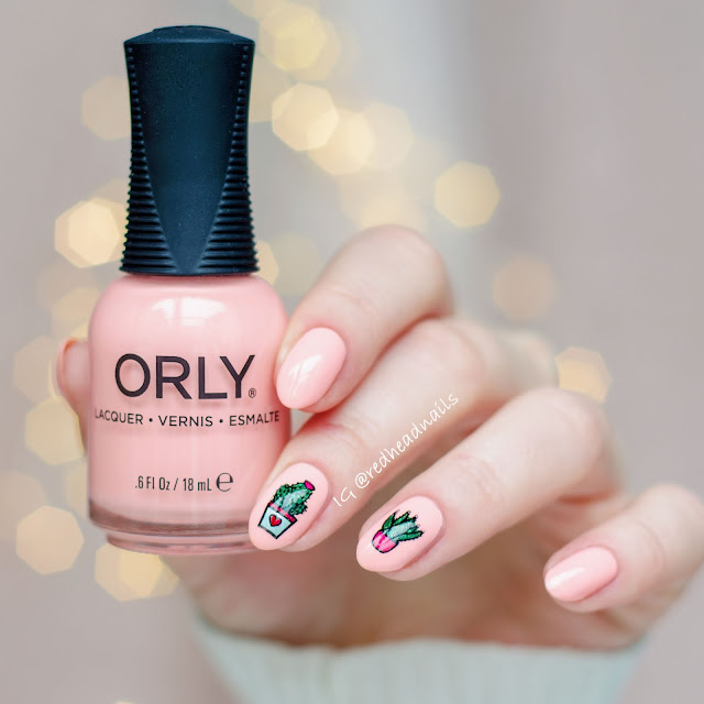 "Orly ""Pink Noise"" swatch"