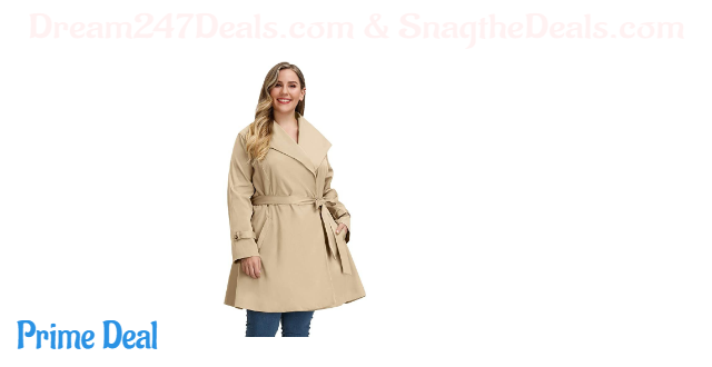 50% off Women Plus Size Trench Coat