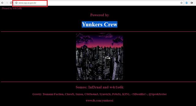 Página da SSP/SE foi invadida por hackers na noite desta quinta-feira