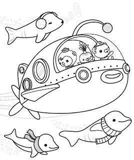 דפי צביעה לגיל הגן חיות מתחת למים