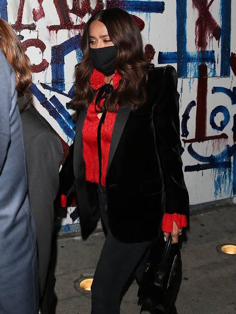 Salma Hayek – Seen at Craig's restaurant in West Hollywood