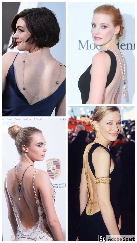 Como usar colar nas costas como as celebridades famosas