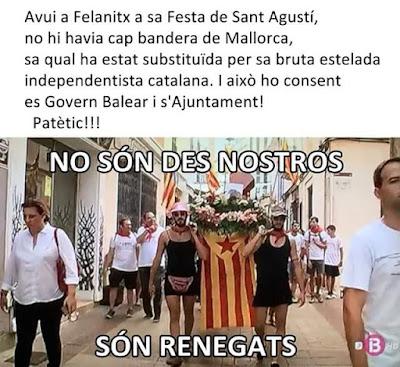 Mallorca , Felanitx , San Agustí , estelada