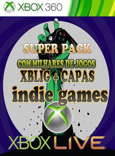 SUPER PACK COM MILHARES DE JOGOS XBLIG + CAPAS JTAG/RGH Xbox 360