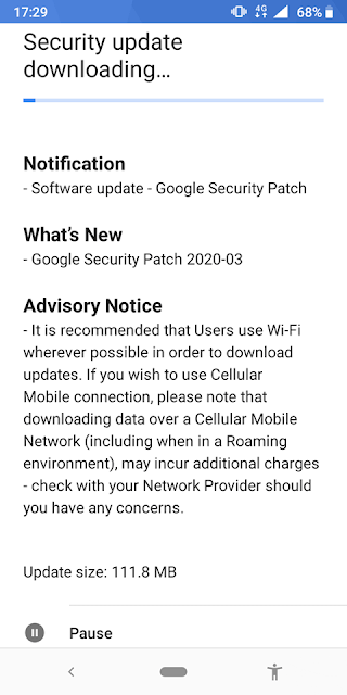 Nokia 3.1 receiving March 2020 Android Security Patch