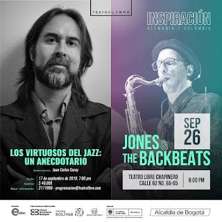 """Concierto """"Inspiración"""" de JONES y THE BACKBEATS en Bogotá"""