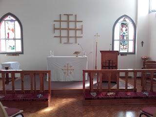 St Helena's Church, white linen for All Saints Day