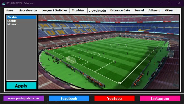 PES HD PATCH Selector crowd mods