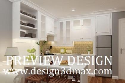 Jasa design interior kitchenset dapur apartemen mewah nuansa putih